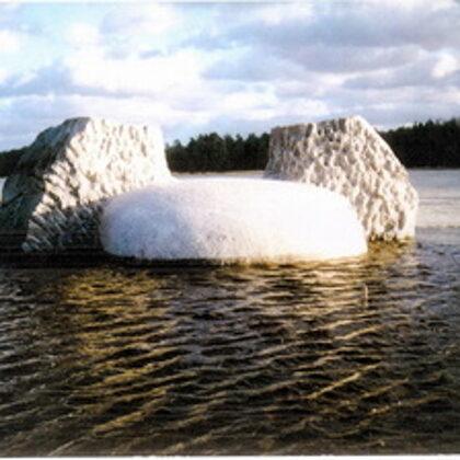 EPOSA MOTĪVS 2. 1997. Granīts. 150/450/350cm. Vakarbuļļi, Rīga