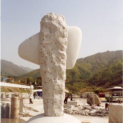 FOR A STONE AGE GENIUS. 2000. Granite. 330/300/270cm. Saeng-Cho, South Korea