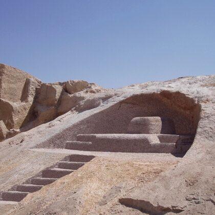 PHARAON THRONE 2011. Granite rock. 400/700/800cm Aswan, Egypt