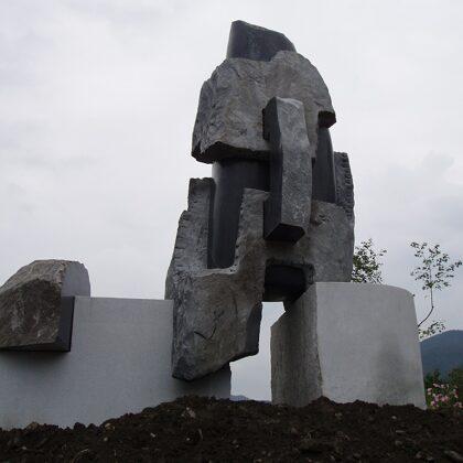 MESSAGE FROM LONG AGO. 2007. Granite, diorite. 600/600/300cm. South Korea